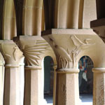 Iona Abbey Cloisters Commission by Chris Hall, Sculptor